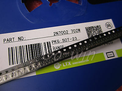 500PCS 2N7002 702 SOT-23( SMD ) N-Channel 60V 115mA MosFET