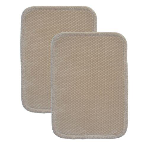 Soft Plush Dot Design with Border Taupe Memory Foam Bath Floor Mat//area Rug