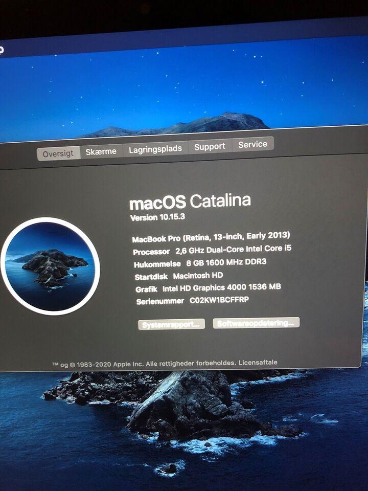 "MacBook Pro, 13"" Retina - Early 2013, i5 - 2,6 GHz"