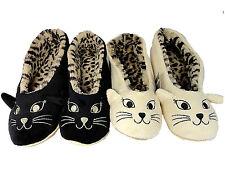 12c02c35668 item 6 LADIES CAT LEOPARD FUR BALLERINA SLIPPERS BLACK CREAM SOFT COMFORT  -LADIES CAT LEOPARD FUR BALLERINA SLIPPERS BLACK CREAM SOFT COMFORT