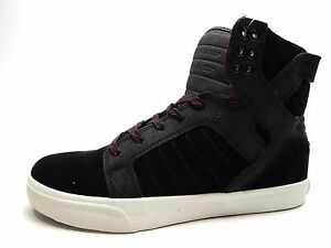 Image is loading SUPRA-MEN-039-S-SKYTOP-BLACK-TAWNY-PRISTINE-