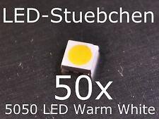 50x 5050 Warmweiss SMD LED PLCC6 3-Chip Gurtabschnitt