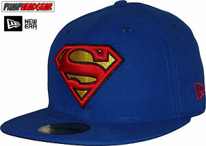 Image is loading Superman-New-Era-59Fifty-Character-Basic-Blue-5950- 34ceb8fb607