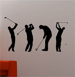 Amazing Image Is Loading SET OF 4 GOLFERS Wall Art Sticker Vinyl