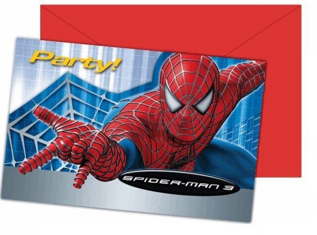 Maison 5 Ou 12 Cartes Invitation Anniversaire Spiderman Réf