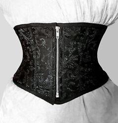 Taillen korsett corsage aus Brokat Schwarz  Gr 34,36,38,40,42,44,46,bis 56