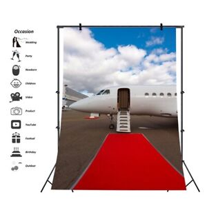 10x10FT Vinyl Photography Backdrop,Airplane,Vintage Cloud Aerospace Photo Background for Photo Booth Studio Props