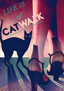 """ Life is a catwalk"". ART deco A 4 size Photo print."