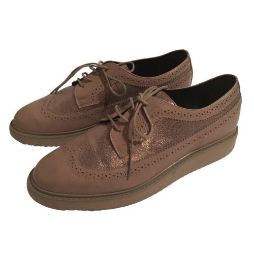 Geox Eu40 Sole Brogues 7 Beig Chunky Zapatillas Respira Up Shoes Uk Fawn Flat Lace O76xqO8w4r
