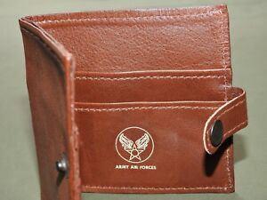 US-Army-AAF-WW2-EASTMAN-OFFICER-MONARCH-A-2-RUSSET-HORSEHIDE-LEATHER-WALLET-MINT