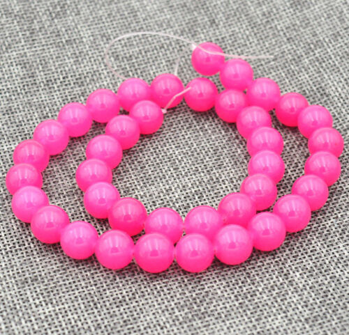 Charming 8mm rose Ruby Gemstones Loose Beads 15 /""