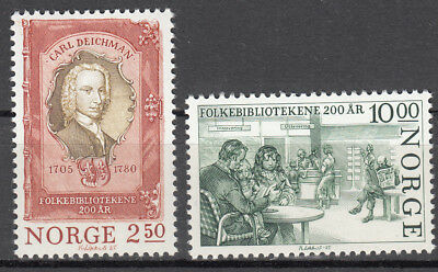 Self-Conscious Norwegen Norge Nr 934-935** 200 Jahre Volksbibliothek Comfortable Feel