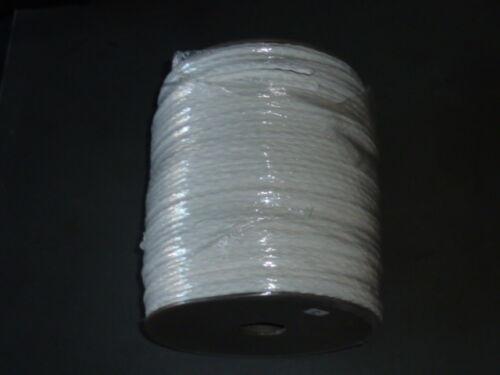 "1000/' Feet Solid Braid Cord Rope 1//4 inch 1//4/"" PHB080-1002 White braided"