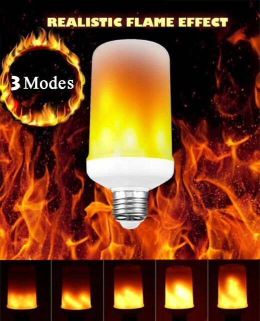 E27 99 LED Flicker Flame Light Bulb Simulated Burning Fire Effect Festival Party