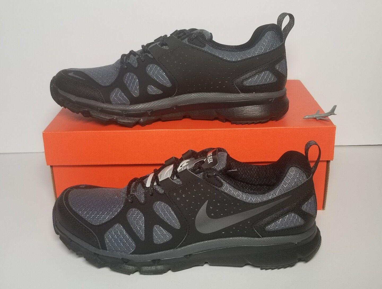 Nike Flex Trail,ocho yardas,zapatos grises y negros