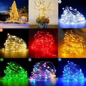 Waterproof 10M 100 LED Christmas Tree String Fairy Party Lights Home Decor Lamp