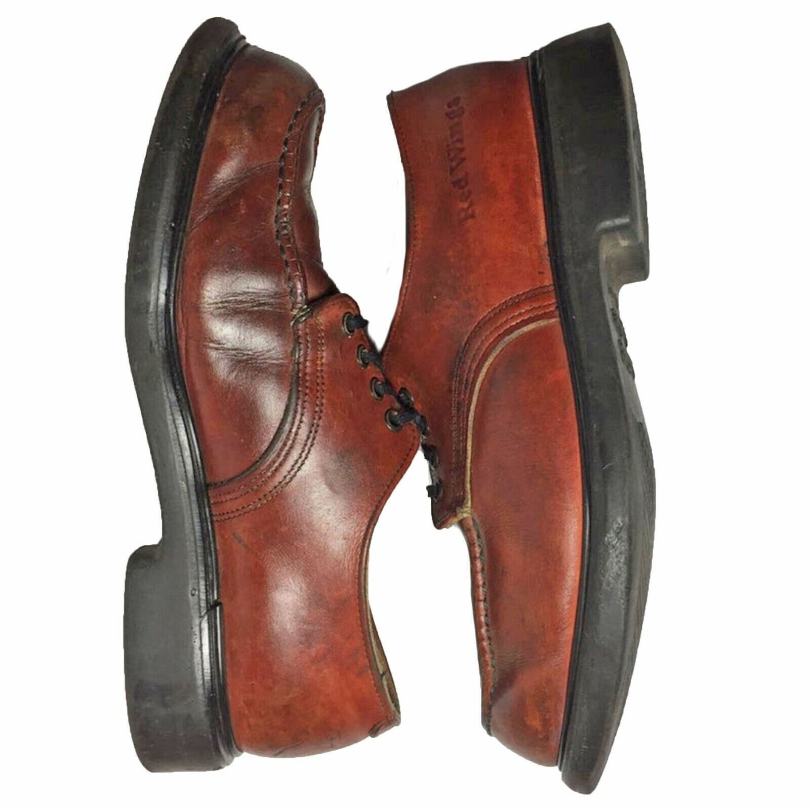 RED WING® Vintage 90's Postman Brown Leather Oxfo… - image 6