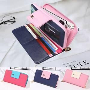 Women-Girls-Clutch-Leather-PU-Long-Purse-Wallet-Phone-Card-Holder-Lady-Handbag