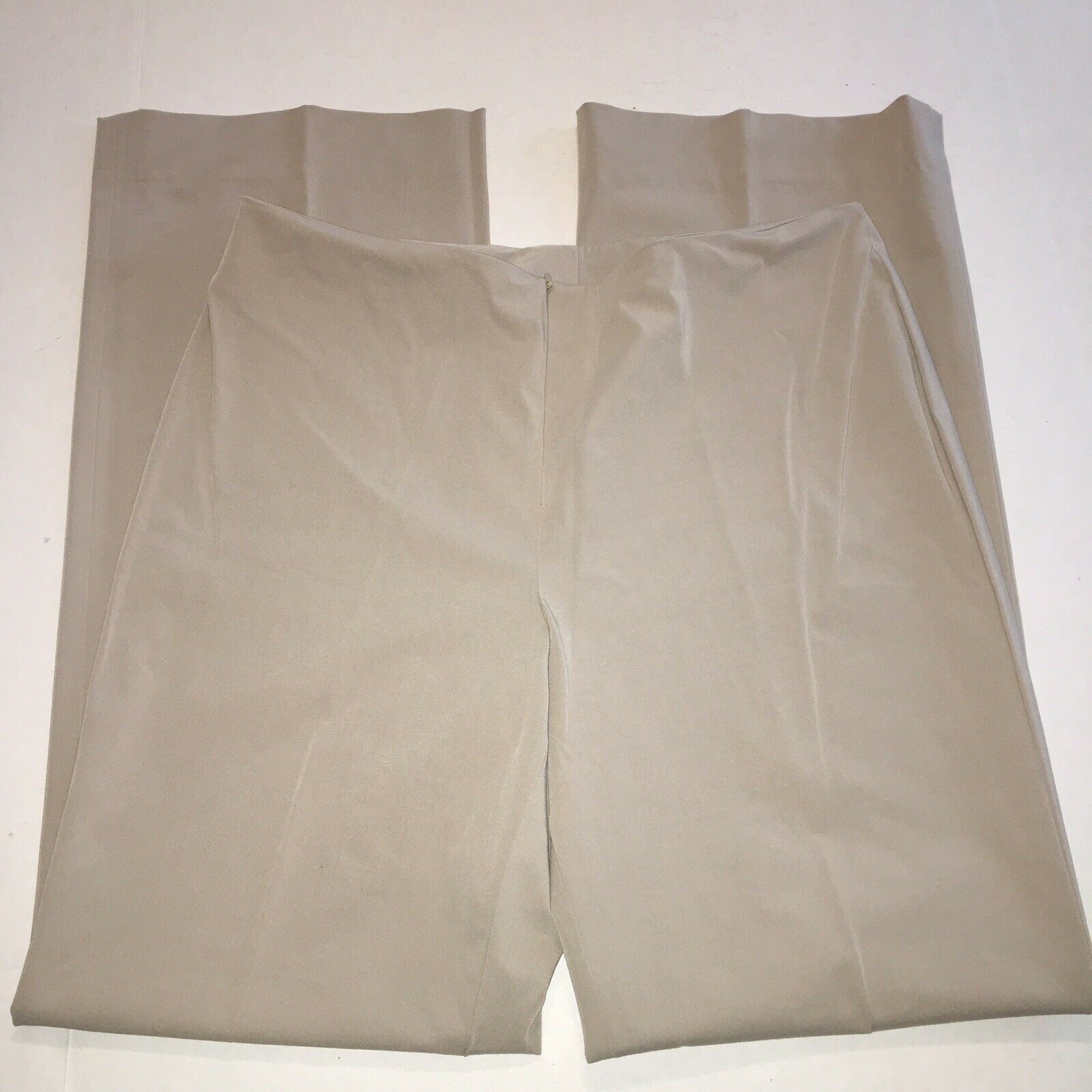 Doncaster Collection Stretch Pants sz 14 34X33 Stone Flat Front