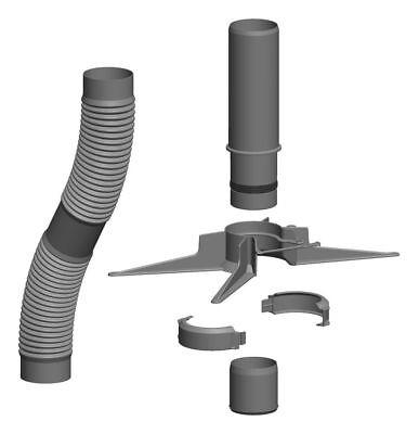 Basisset 10 m DN 60 Kunststoff-Abgassystem Rohr flexibel