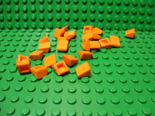"""** 25 CT LOT ** Lego NEW orange 1 x 1 slope /""""cheese/"""" pieces Lot of 25"""