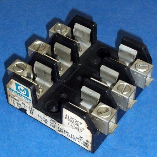 F30A3B Details about  /MARATHON 250V 30A 3-POLE FUSE BLOCK 4100009