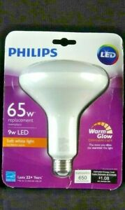 PHILIPS 65-Watt Equiv BR40 Dimmable LED Light Bulb Soft White with Warm Glow 559