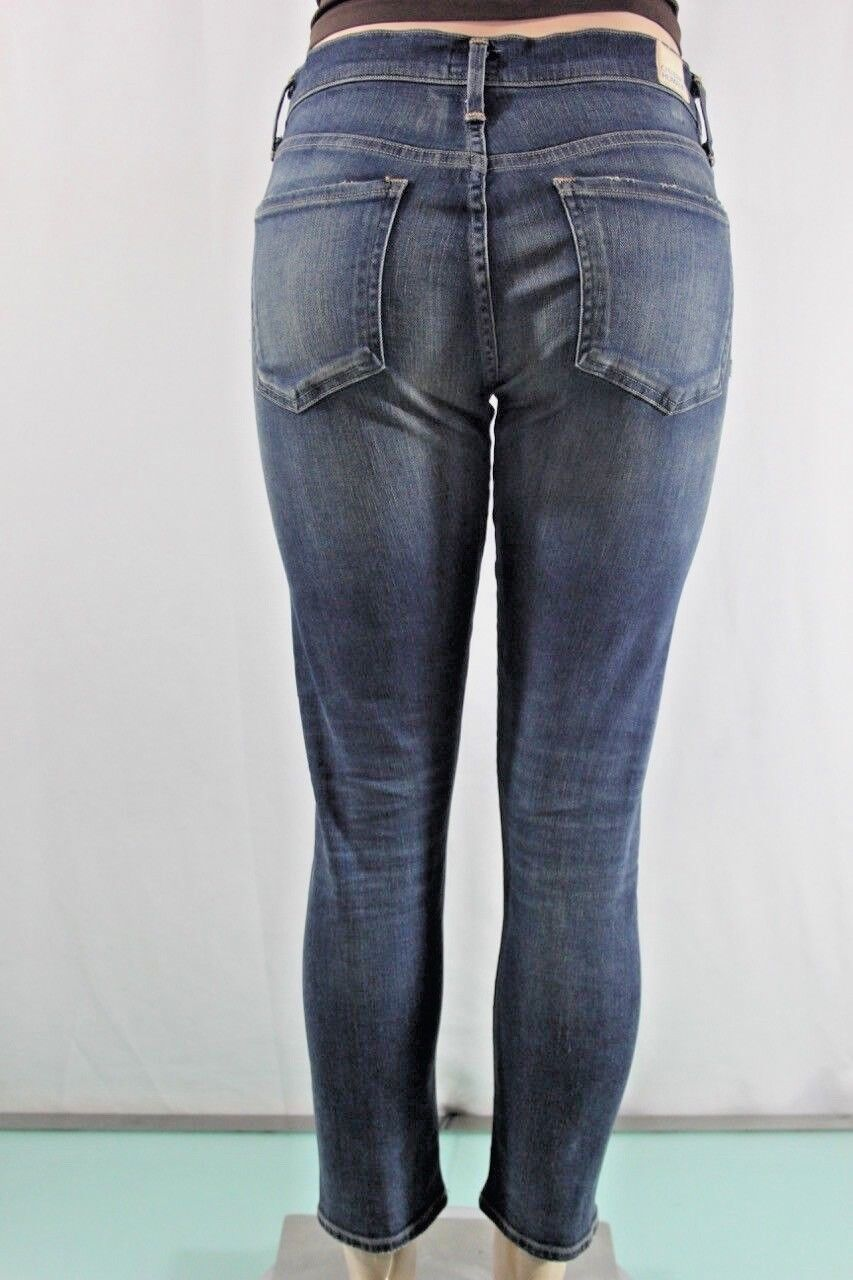 NEW Women's Citizens of Humanity Mid Rise Slim Fit Crop Jeans SZ 27 bluee USA