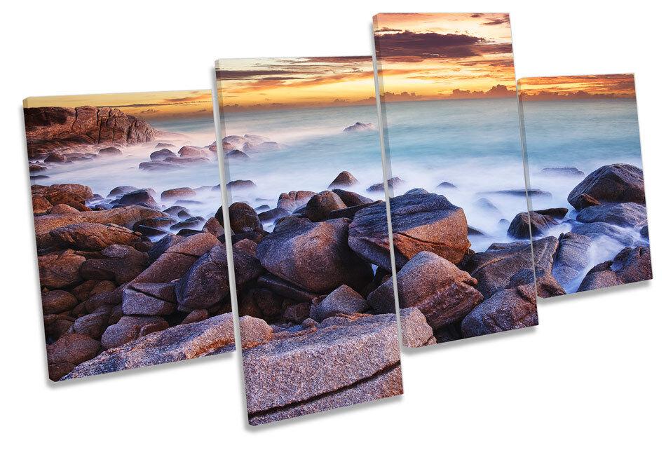 SUNSET Beach Beach Beach OCEANO MARE Multi Canvas WALL ART PICTURE PRINT 800ed1