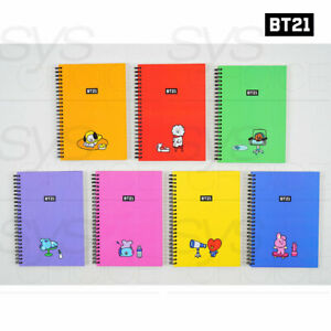 BTS-BT21-Official-Authentic-Goods-B5-Hard-Cover-Note-150-x-210mm-By-Kumhong