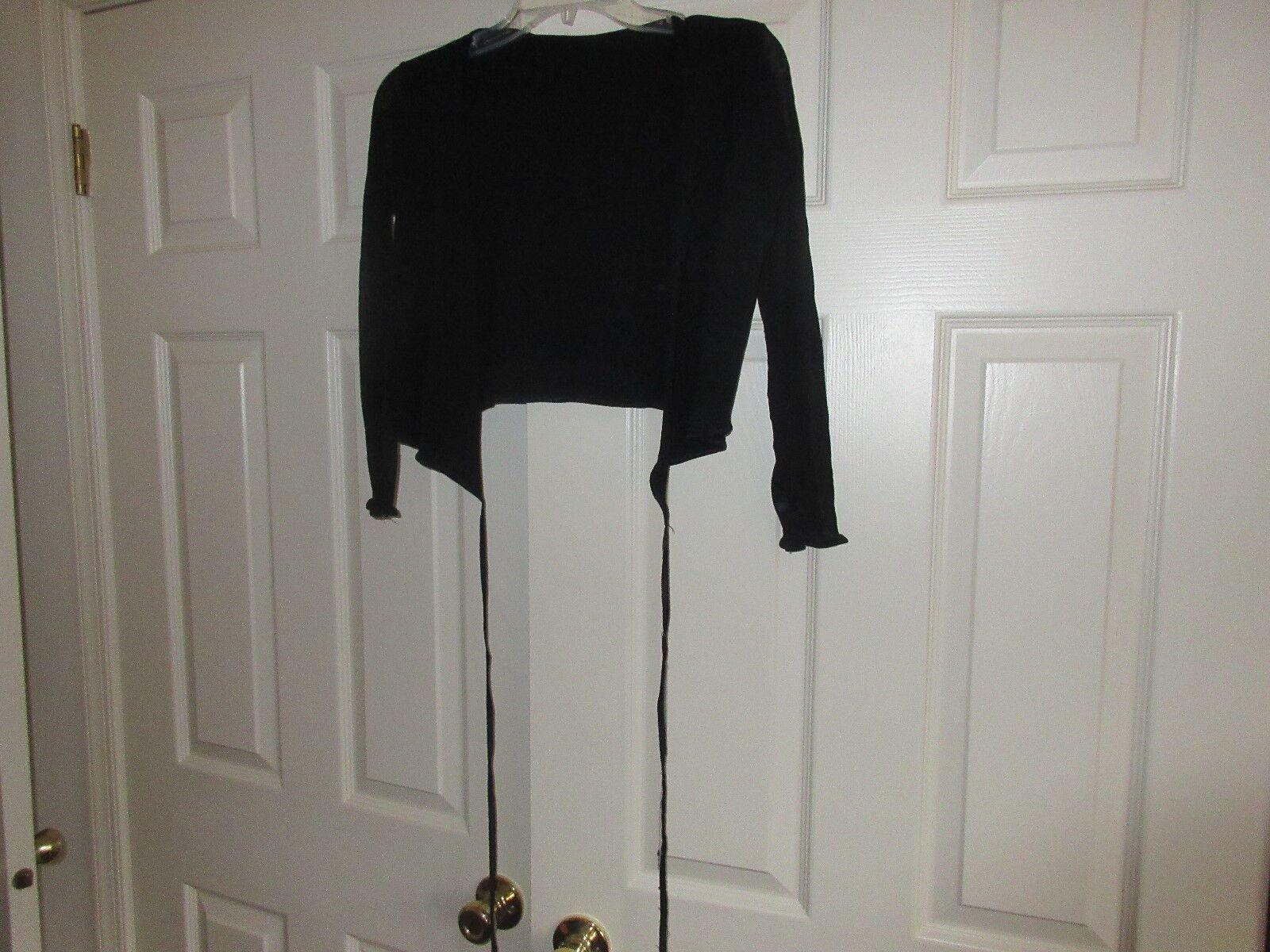 Weston Wear , Ladies Top , Black ,100% Nylon , Size 2 ,