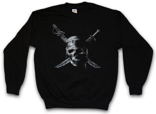 Pirate Skull Pullover Felpa Sailor PIRATES CARIBBEAN teach Charles Vane