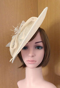 0d9f6a6b1b254 Image is loading Ivory-Cream-Fascinator-by-Failsworth-was-59-99-