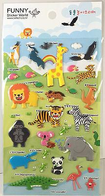 Mihuwang Monkey Puffy STICKERS Sheet of 47 Funny Sticker World Korea Kawaii
