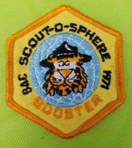 1971-Boy-Scout-Patch-BSA-Baltimore-Area-Council-Scout-O-Sphere-Booster