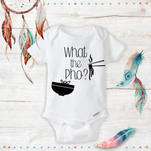 What the Pho onesies Baby Unisex//Boy//Girl Onesie Funny Baby Shower Gifts Newborn