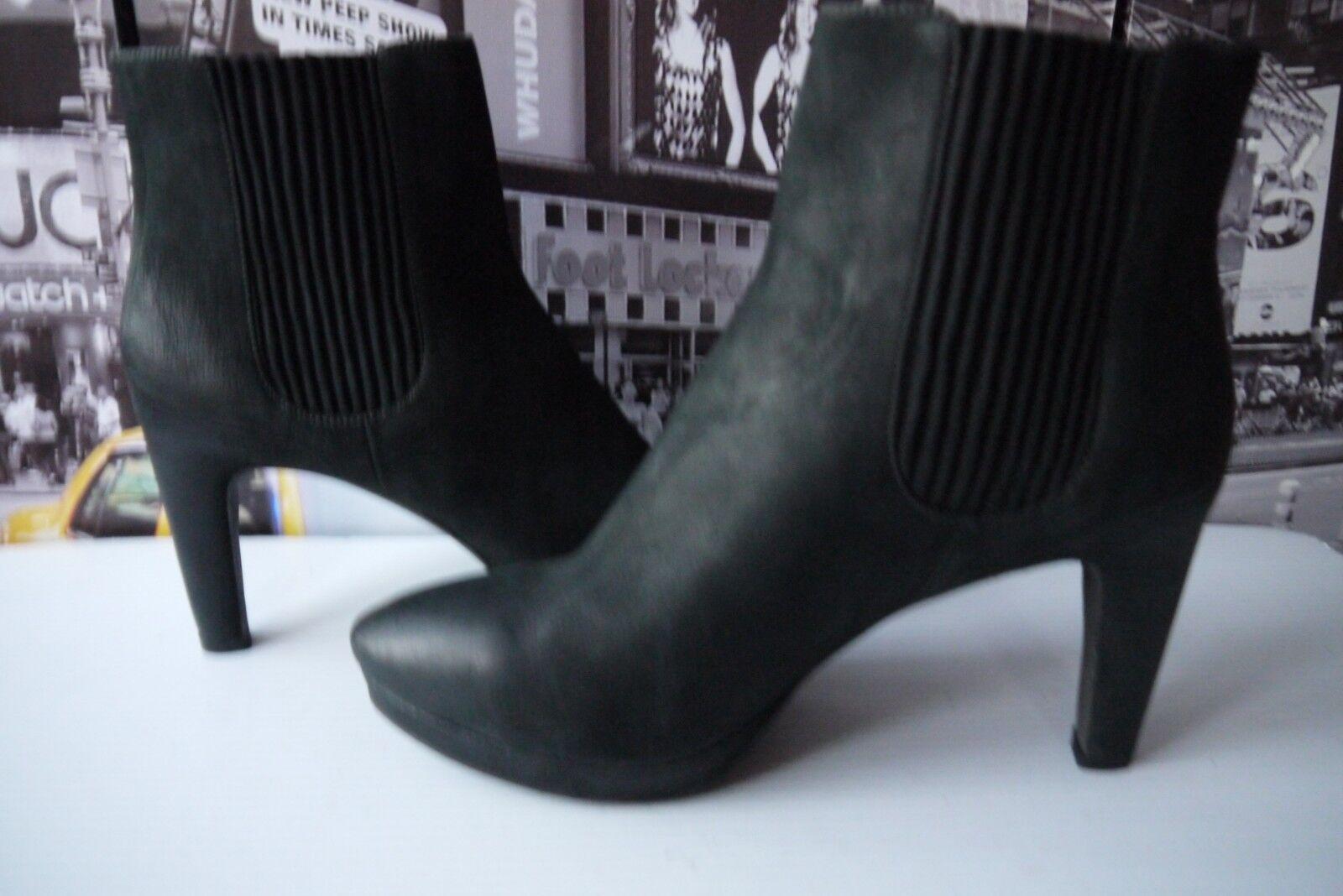Ecco femmes suede pull on heel chelsea platform ankle démarrage noir EU 40 US 9-9.5