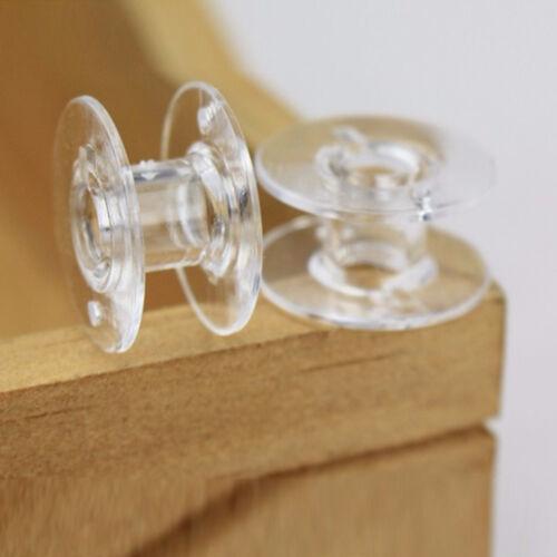 25 Pcs//Set Clear Bobbin Home Sewing Machine Plastic Spools Thread Brother Singer