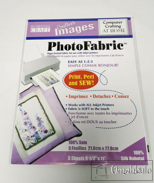 "BLUMENTHAL - Printable Photo Fabric Printing - 8.5x11"" - Silk Habotai - 5 Sheets"