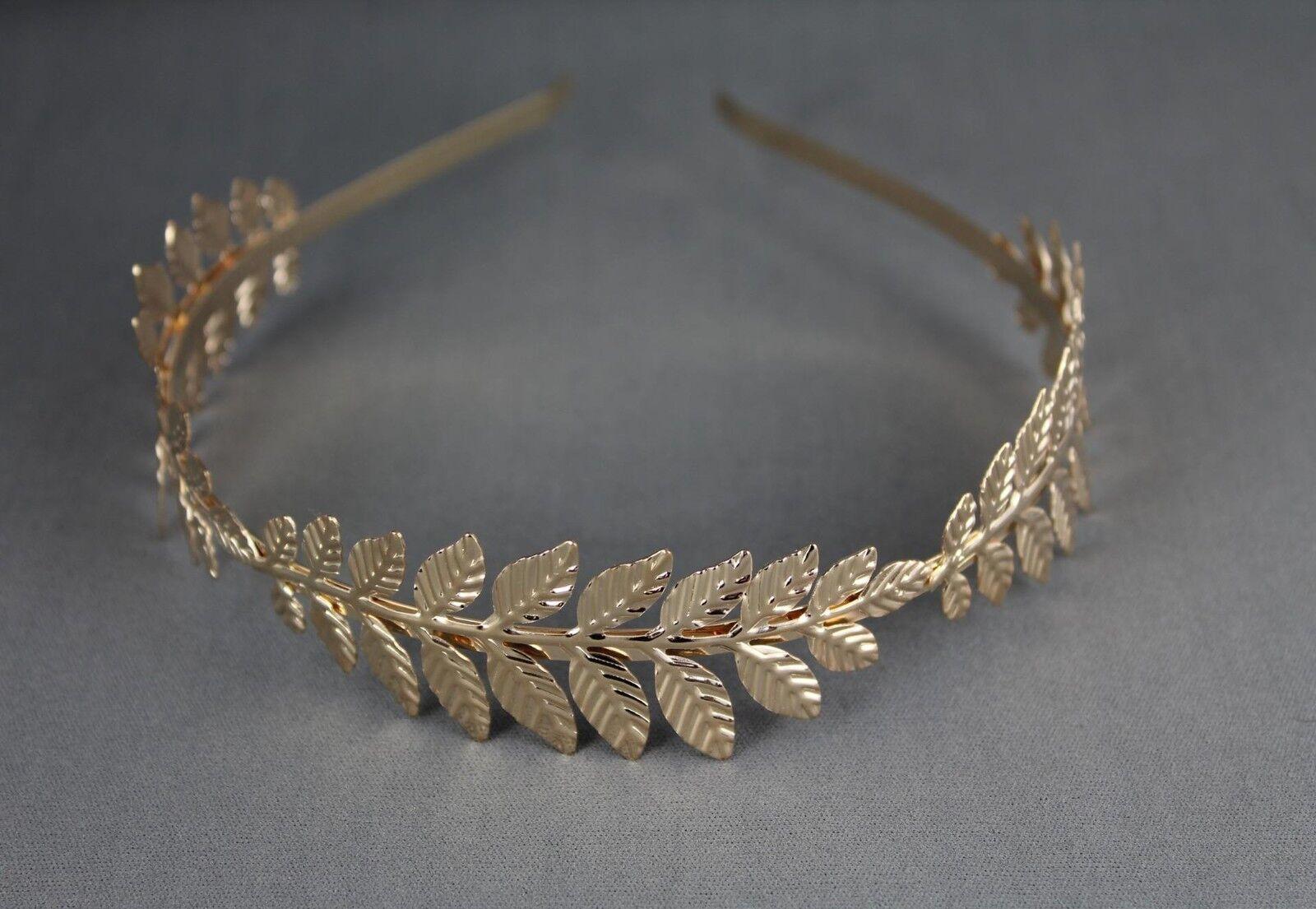 Greek Goddess Headband Costumes//Gold Leaf Branch Hair Band Crown//Bridal Wedding Headpiece