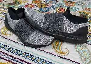 save off 5cf26 6ee99 Adidas Ultra Boost Laceless Mens Sz 10.5 Oreo Black Boost & Grey ...