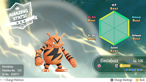 Pokemon Let S Go Shiny Electabuzz Max 6iv Av Fast Delivery