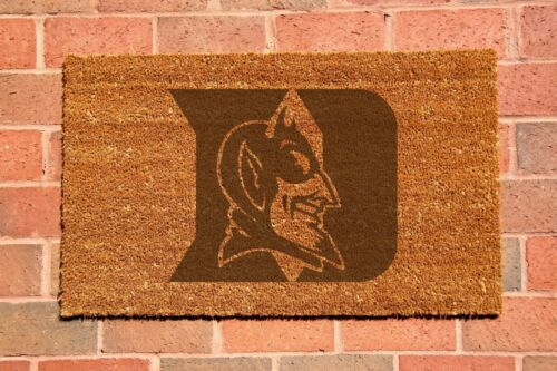 Duke Blue Devils Laser Engraved Welcome Mat, 100% Natural Coir Fiber