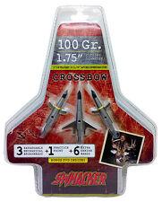 Swhacker Set of 3 Crossbow 100 Grain 1.75 Inch Cut Broadhead