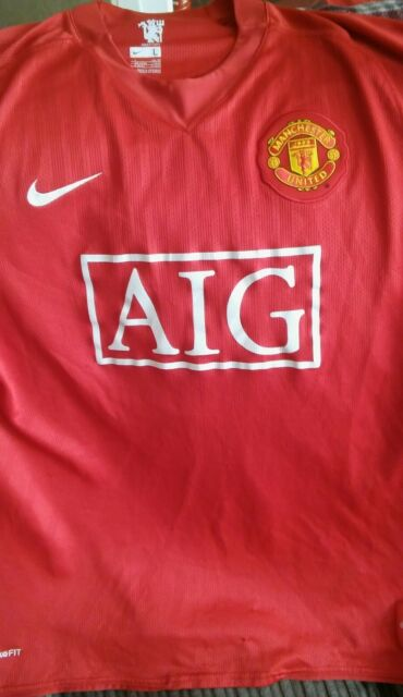 eae499976 Vtg Nike Manchester United Red Home Football Shirt Large Adult No 8  HARGREAVES