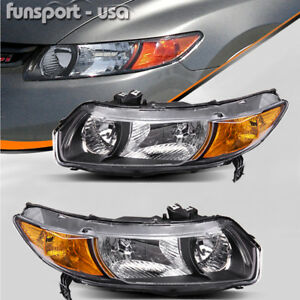 Headlights-Assembly-Replacement-for-2006-2011-Honda-Civic-Coupe-2Dr-Left-Right