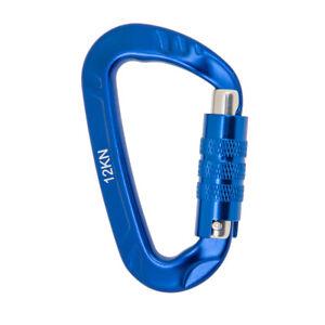 Outdoor Camping Hiking D-Ring Carabiner Screw Locking Snap Clip Hook Hanger 12KN
