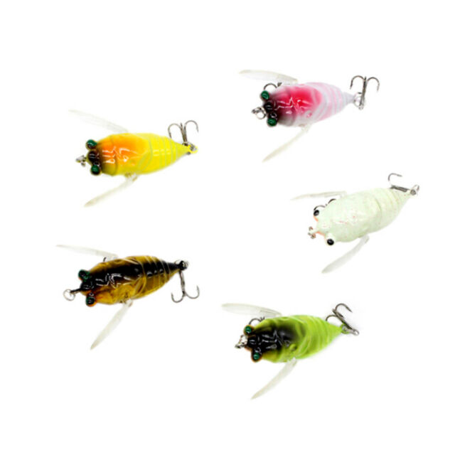 1Pc Cicada Bass Insect Fishing Lures 4Cm Crank Bait Floating Tackle  HMYY