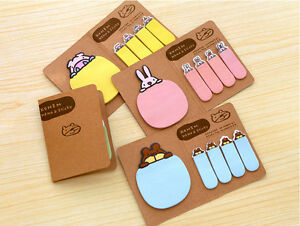 New-Cute-Funny-Animal-Sticker-Paste-Bookmark-Point-Marker-Memo-Sticky-Notes-ZOCA