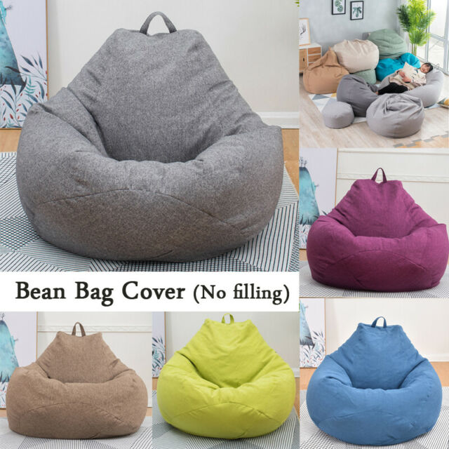 Pleasant Large Bean Bag Chairs Couch Sofa Cover Indoor Lazy Lounger For Adult Kids 3Color Machost Co Dining Chair Design Ideas Machostcouk